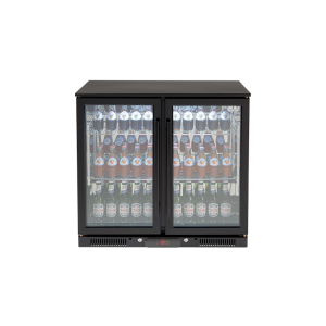 EA900WFBL – 208L Double Glass Doors Black Beverage Cooler