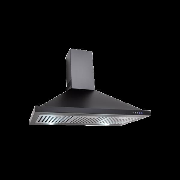 EBB900BK – 90cm Black Canopy Rangehood