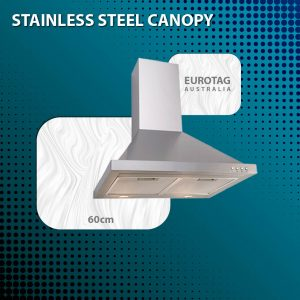 EUROTAG EA60SX – 60cm Stainless Steel Canopy