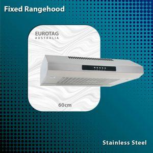 EUROTAG RH-D-F49-60-SR 60cm Fixed Rangehood - Silver