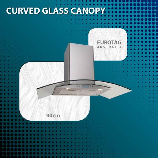 EUROTAG ORC97G 90cm Curved Glass Canopy Rangehood