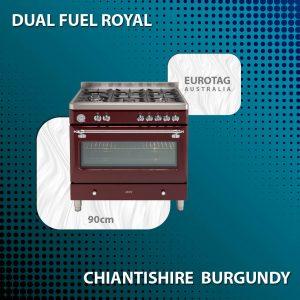 90cm Dual Fuel Royal Chiantishire Burgundy - ECSH900BG Made In Italy NEW