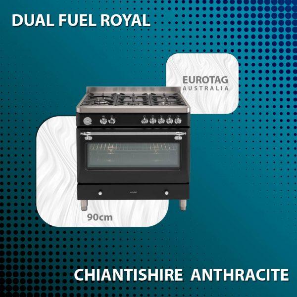 EUROTAG ECSH900AN – 90cm Dual Fuel Royal Chiantishire – Anthracite