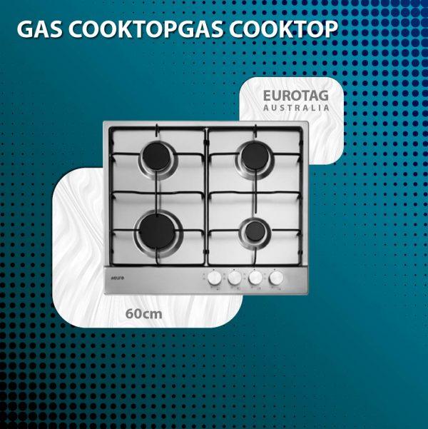 EUROTAG 60cm 4 burner gas cooktop