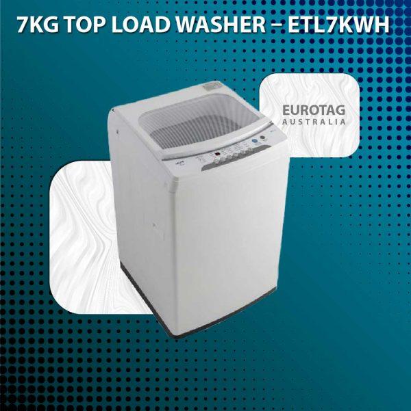 Euro ETL7KWH 7KG Top Loader Washing Machine